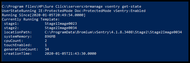 BrManage_vSentry_get-state_Stage1-23_State2-34_Generation_34_CmdLine_Screenshot
